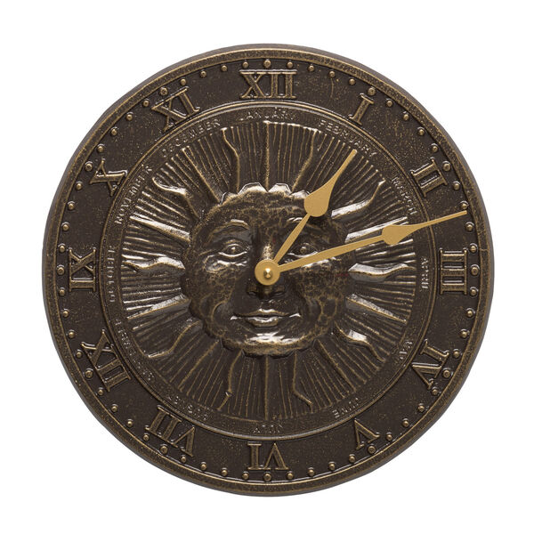 French Bronze Sunface Clock, image 1