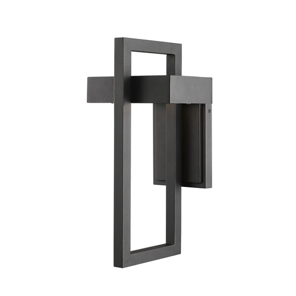 Luttrel Black 15-Inch LED Outdoor Wall Sconce with Frosted Glass, image 3