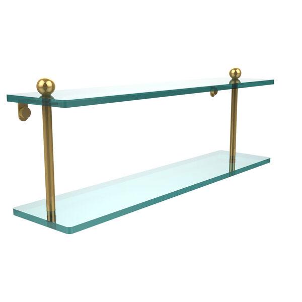 Prestige Regal Polished Brass Double Shelf, image 1