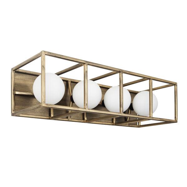 Plaza Havana Gold And Carbon Four-Light LED ADA Bath Vanity, image 2