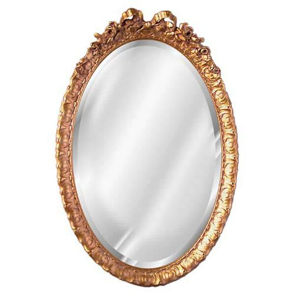 Oval Beveled Mirror with Bow , image 1