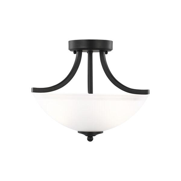 Geary Midnight Black Two-Light Semi-Flush Convertible Pendant, image 1