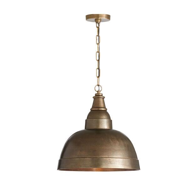 Oxidized Brass 17-Inch One-Light Pendant, image 1