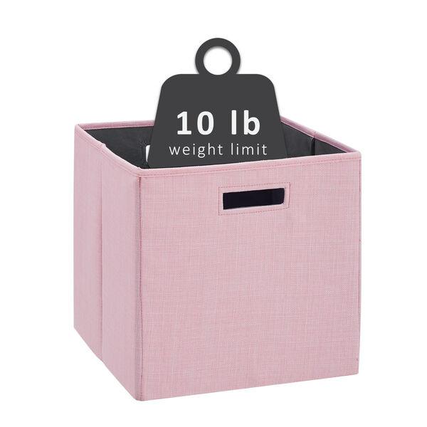 Liam Pink Storage Bin, Pack of 2, image 4