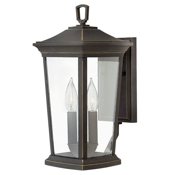 Bromley Oil Rubbed Bronze Two-Light Outdoor 15-Inch Small Wall Mount, image 1