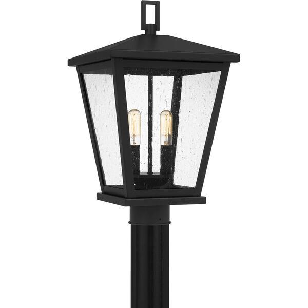 Joffrey Matte Black Two-Light Outdoor Post Mount, image 1