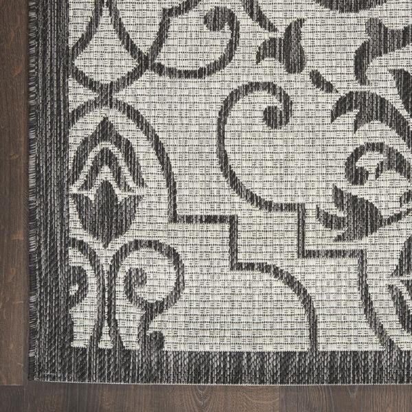 Garden Party Ivory and Charcoal 2 Ft. 2 In. x 7 Ft. 6 In. Indoor/Outdoor Runner Rug, image 4