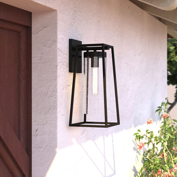 Nash Textured Black Eight-Inch One-Light Outdoor Wall Sconce, image 3
