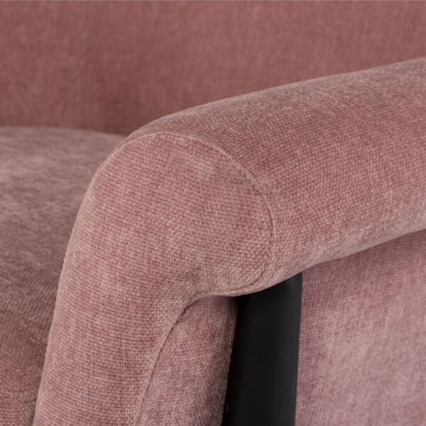 Charlize Dusty Rose and Black Occasional Chair, image 4