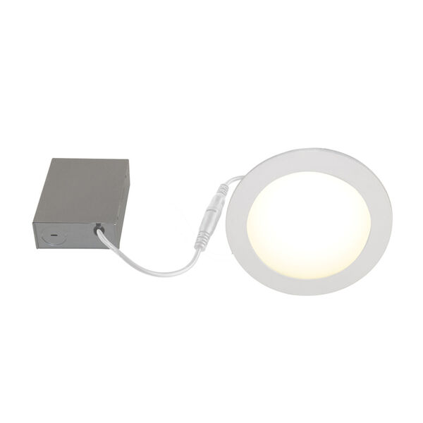 White Wi-Fi RGB LED Recessed Fixture Kit, Pack of 4, image 3