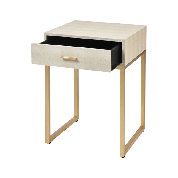 Les Revoires Cream with Gold 16-Inch Accent Table, image 2