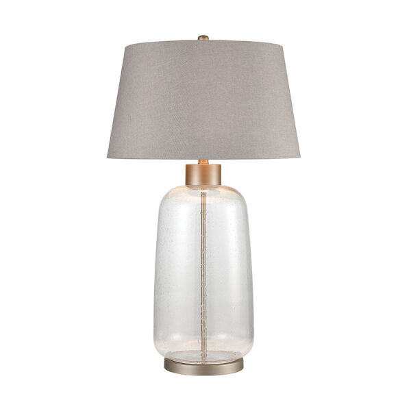 Whaling Clear Bubble Glass and Pewter One-Light Table Lamp, image 1