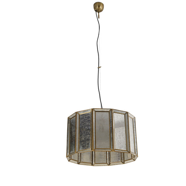Bali Antique Brass One-Light Round Pendant, image 3
