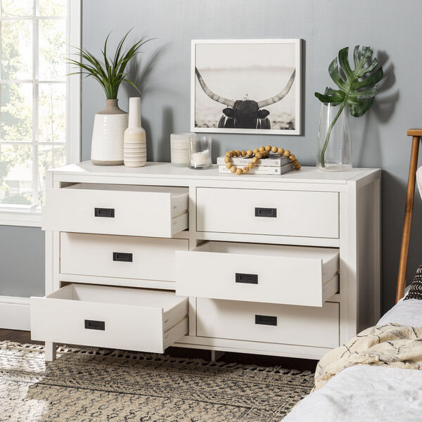 Lydia White Dresser with Six Drawer, image 4