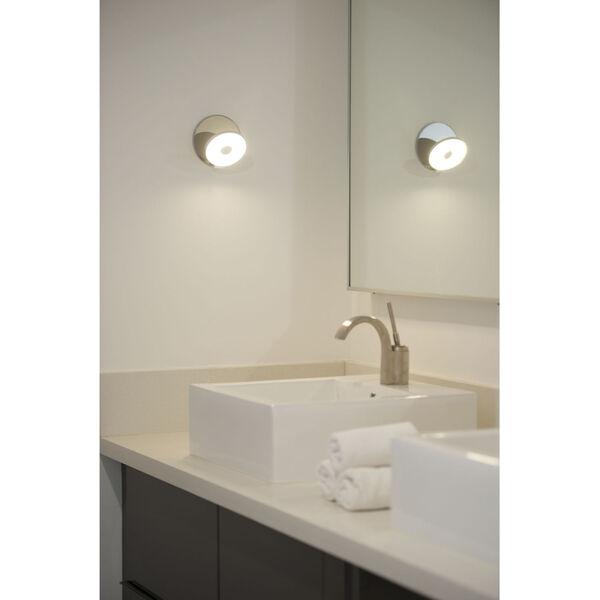 Gravy Chrome Metallic Black LED Plug-In Wall Sconce, image 6