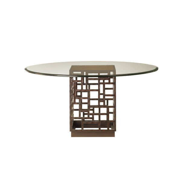 Ocean Club Brown South Sea Dining Table with 60 In. Glass Top, image 1
