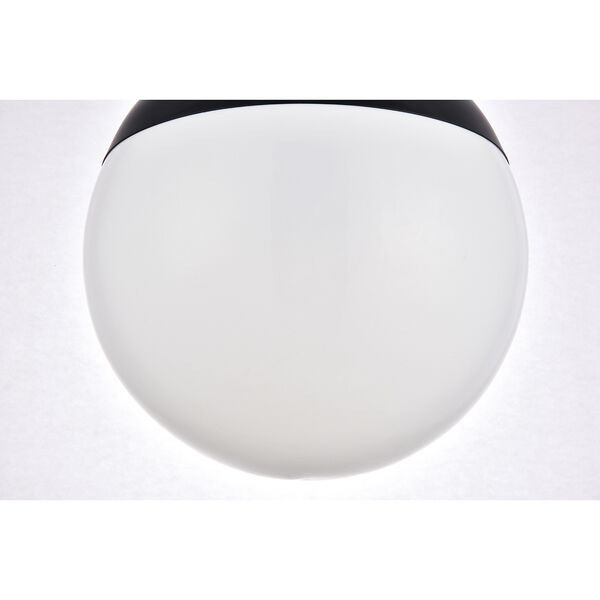 Eclipse Black and Frosted White 14-Inch One-Light Pendant, image 6