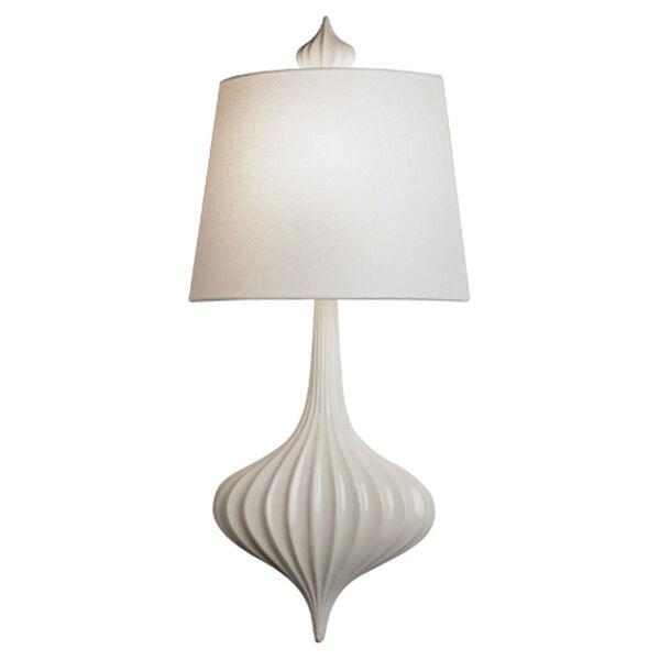 Jonathan Adler Gray-White One-Light Ceramic Sconce, image 1
