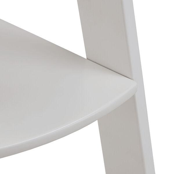 Roark White Corner Ladder Bookcase, image 6
