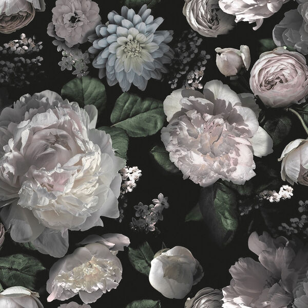 Moody Floral Removable Wallpaper, image 1