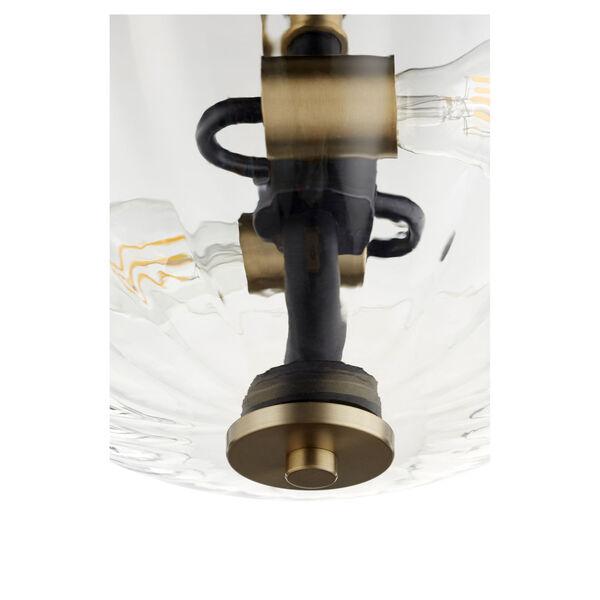 Monarch Noir Aged Brass Two-Light Dual Mount Pendant, image 2