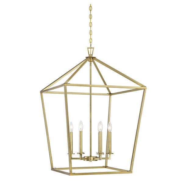 Townsend Warm Brass Six-Light Pendant, image 1
