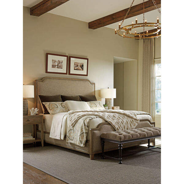 Cypress Point Gray Stone Harbour Upholstered Bed, image 3