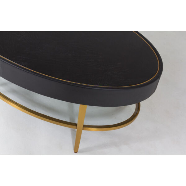 Ellipse Black and Gold Cocktail Table, image 4
