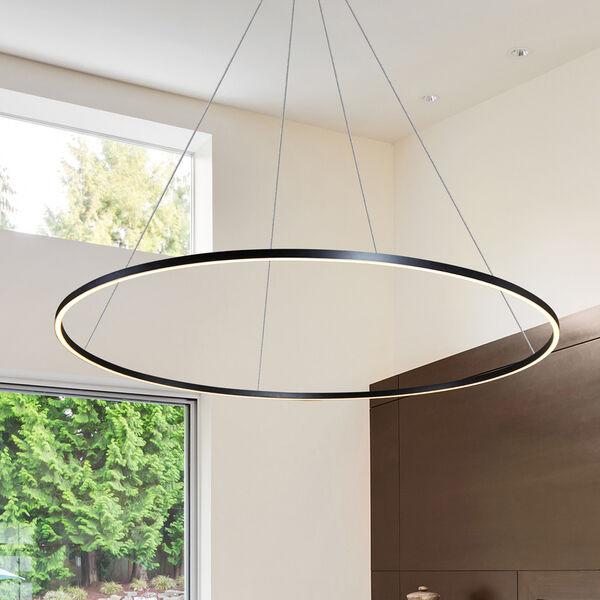 Tania Black 60-Inch LED Adjustable Chandelier, image 1