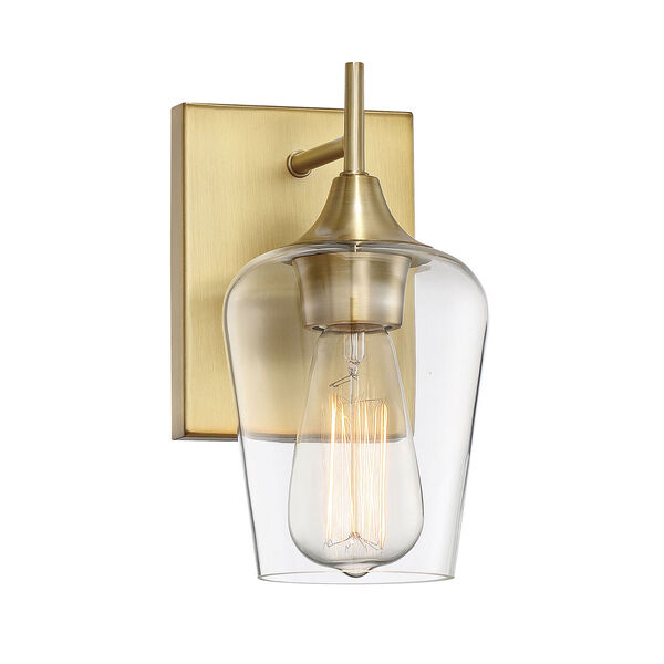 Octave Warm Brass One-Light Wall Sconce, image 3