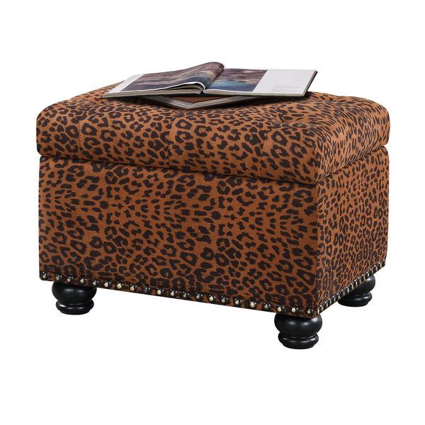 Designs4Comfort 5th Avenue Forest Leopard Print Storage Ottoman, image 4