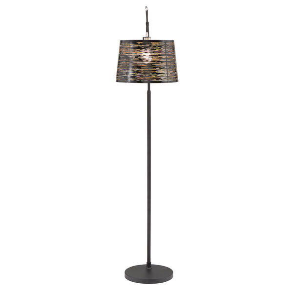 Quinn Black One-Light Arched Floor Lamp, image 2