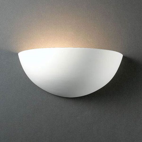 Ambiance Bisque Small Quarter Sphere Bathroom Wall Sconce, image 1