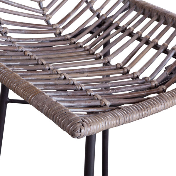 Bali Gray Whitewash Bar Chair, Set of 2, image 3