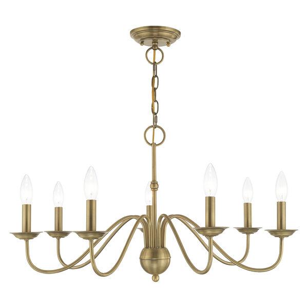 Windsor Antique Brass Seven-Light Chandelier, image 1