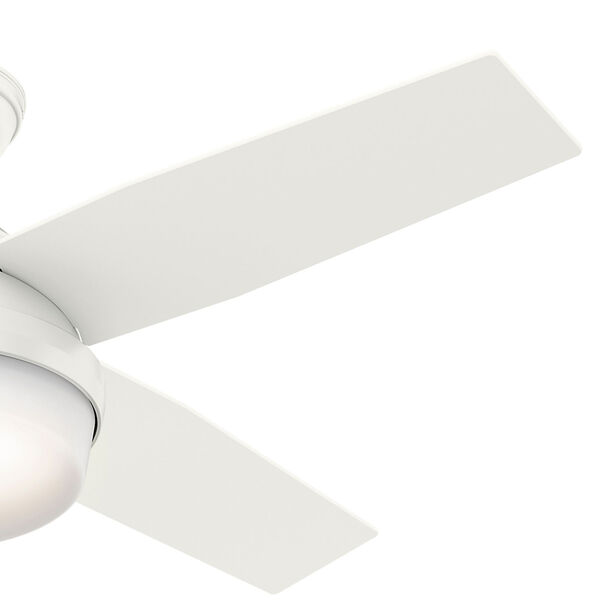 Dempsey Fresh White 44-Inch Two-Light LED Adjustable Ceiling Fan, image 4