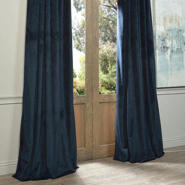 Signature Midnight Blue Blackout Velvet Pole Pocket Single Panel Curtain, 50 X 120, image 6