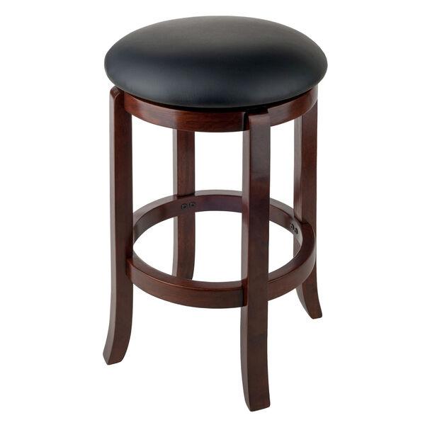 Walcott Walnut and Black Swivel Seat Counter Stool, image 2