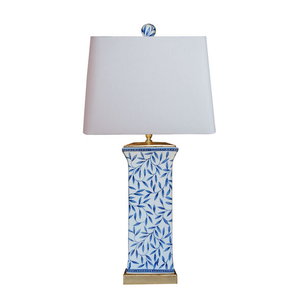 Porcelain Ware Blue and White 28-Inch One-Light Table Lamp, image 1