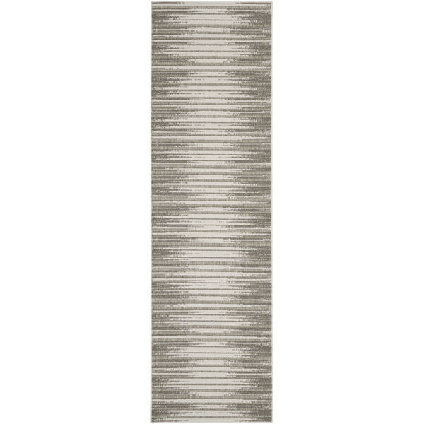 Calobra Light Gray 2 Ft. 2 In. x 10 Ft. Indoor/Outdoor Runner Rug, image 2