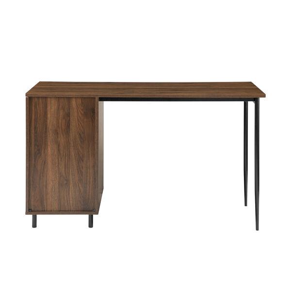 Ingrid Dark Walnut Three Drawer Desk, image 2
