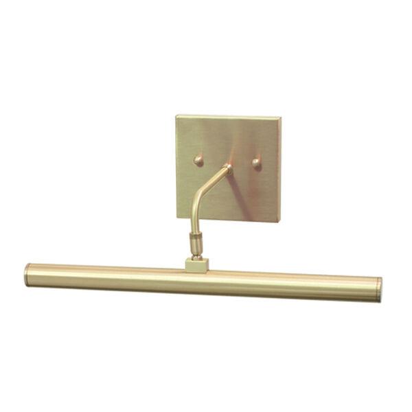 Slim-line Satin Brass One-Light LED Picture Light, image 1