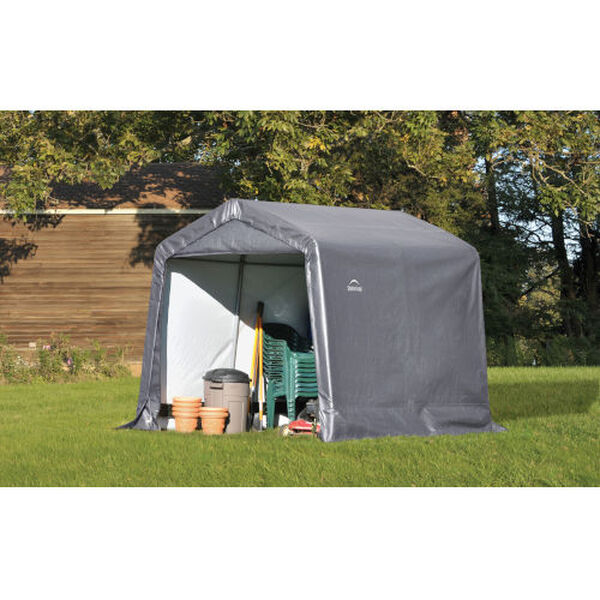 Shed in a Box Gray 8 x 8 x 8 Feet Peak Style Storage Shed, image 2