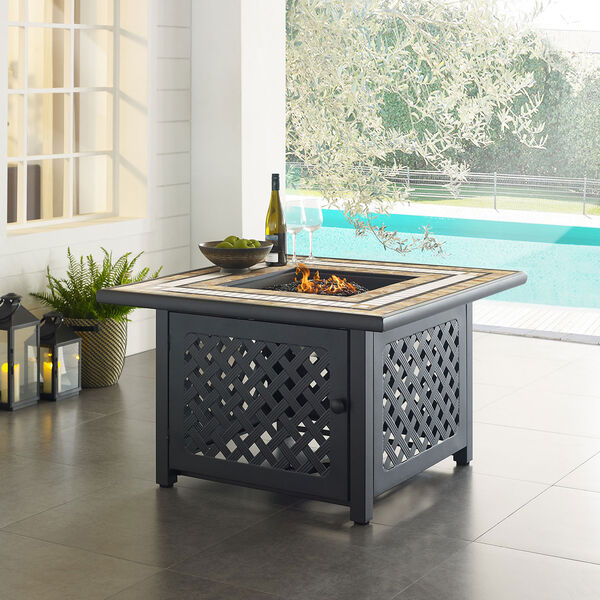 Tucson Brown 40-Inch Fire Table, image 6