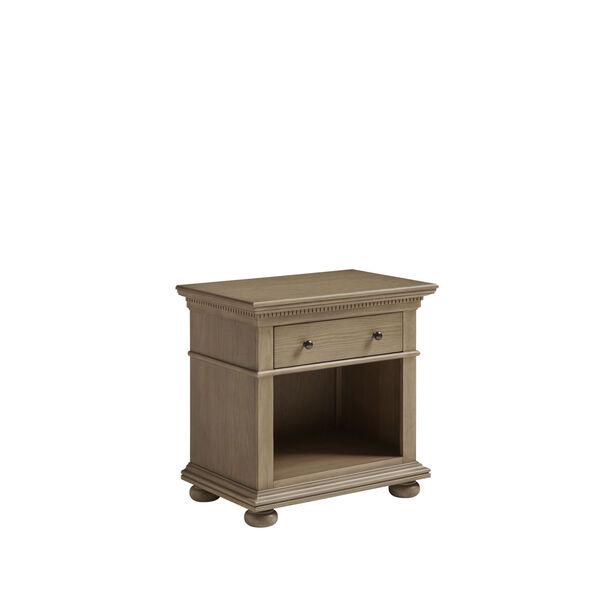 Brown One-Drawer Wood Nightstand, image 5