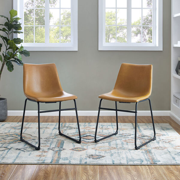 Whiskey Brown Dining Chair, set of 2, image 1