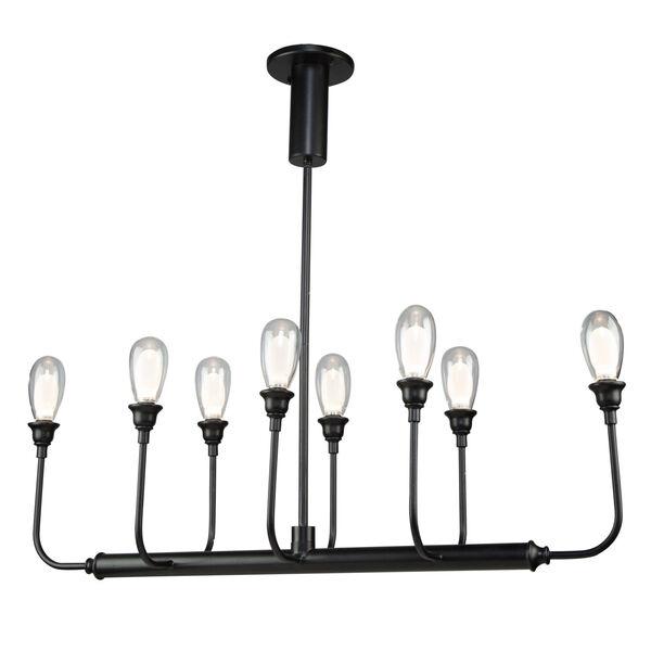 Bimini Black 28-Inch LED Outdoor Semi-Flush Mount, image 1