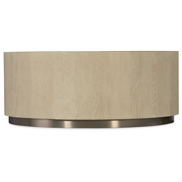 Cascade Taupe Round Cocktail Table, image 1