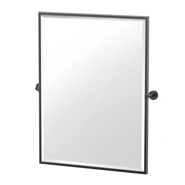Latitude II 32.5-Inch Framed Rectangle Mirror Matte Black, image 1