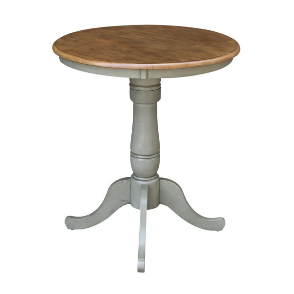 Hickory and Stone 30-Inch Width x 35-Inch Height Round Top Counter Height Pedestal Table, image 2